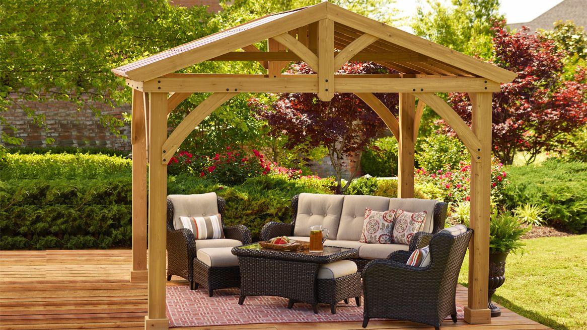 Avery Pavilion by @Yardistry | home-backyard | Jardines ... on Backyard Discovery Pavilion id=35251