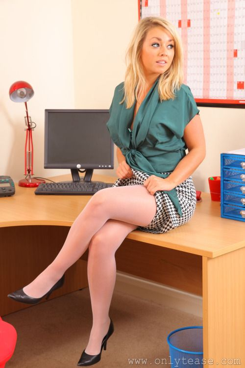 sexy secretary melissa debling in white tights office secretary fantasy pinterest les. Black Bedroom Furniture Sets. Home Design Ideas