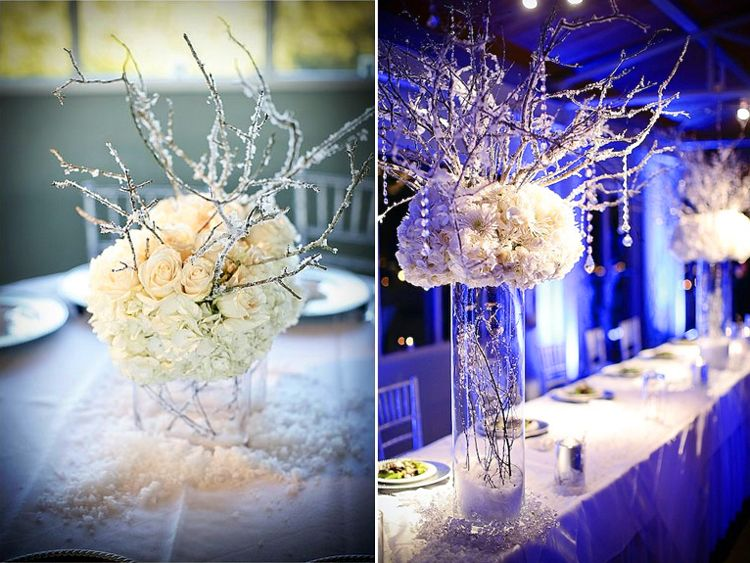 Winter Wonderland Wedding Decorations Ideas Part - 31: Winter Wonderland Christmas Wedding