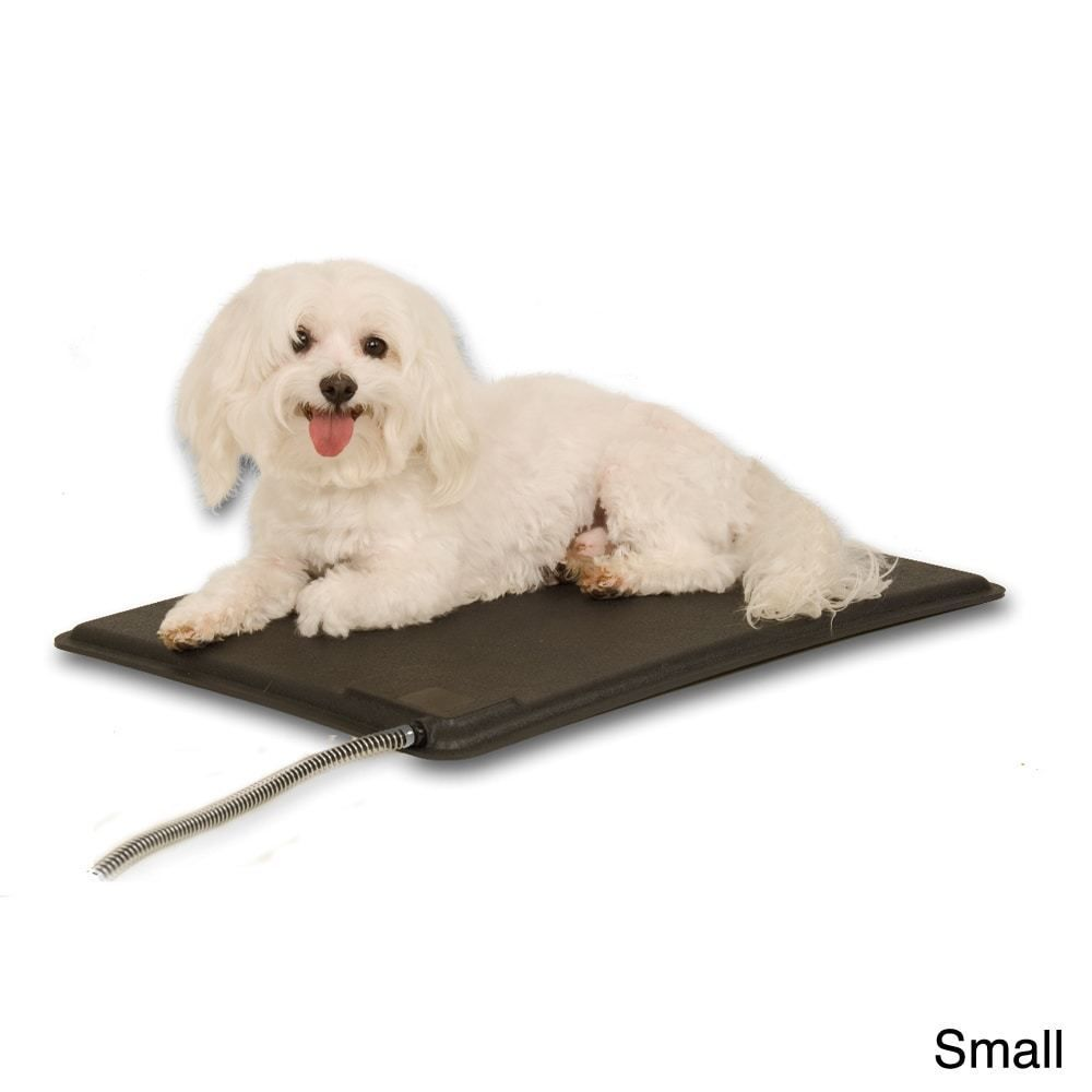 Outdoor Heated Dog Pad With Cover Small Pet Bed With Adjustable Button Heateddogpad Dog Pads Pets Heated Dog Bed