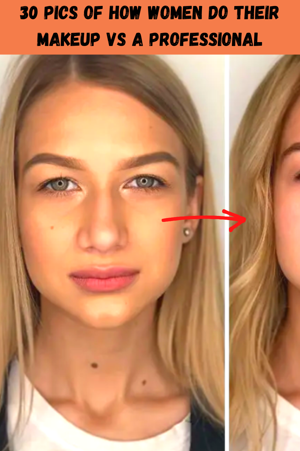 30 Pics Of How Women Do Their Makeup Vs A Professional In 2020 Putting On Makeup Makeup Wedding Hairstyles For Long Hair