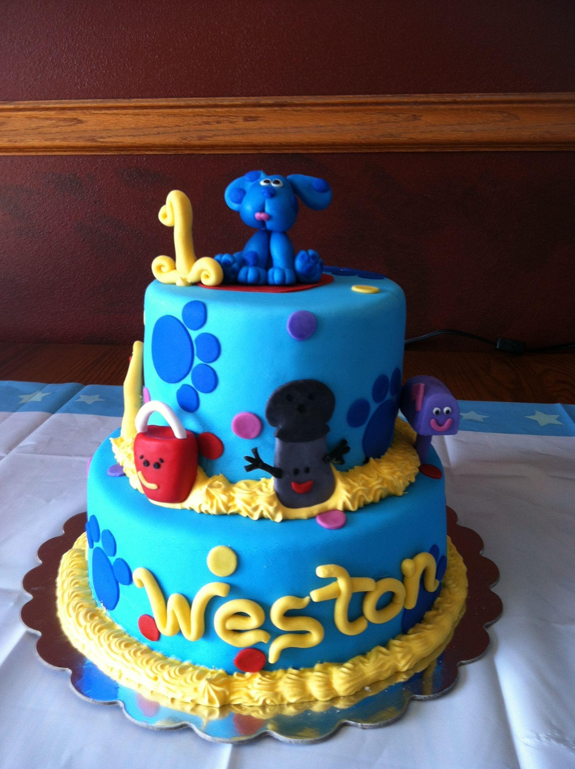 Blues Clues Cake Cupcake Cakes Childrens Birthday Cakes