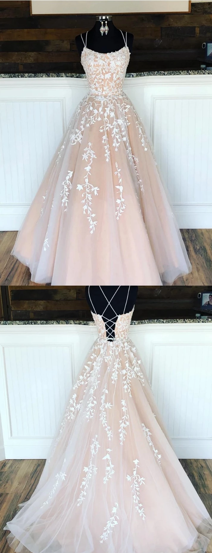 Champagne Prom Dresses Long, Evening Dress ,Winter Formal Dress, Pageant Dance Dresses, Graduation School Party Gown, PC0205
