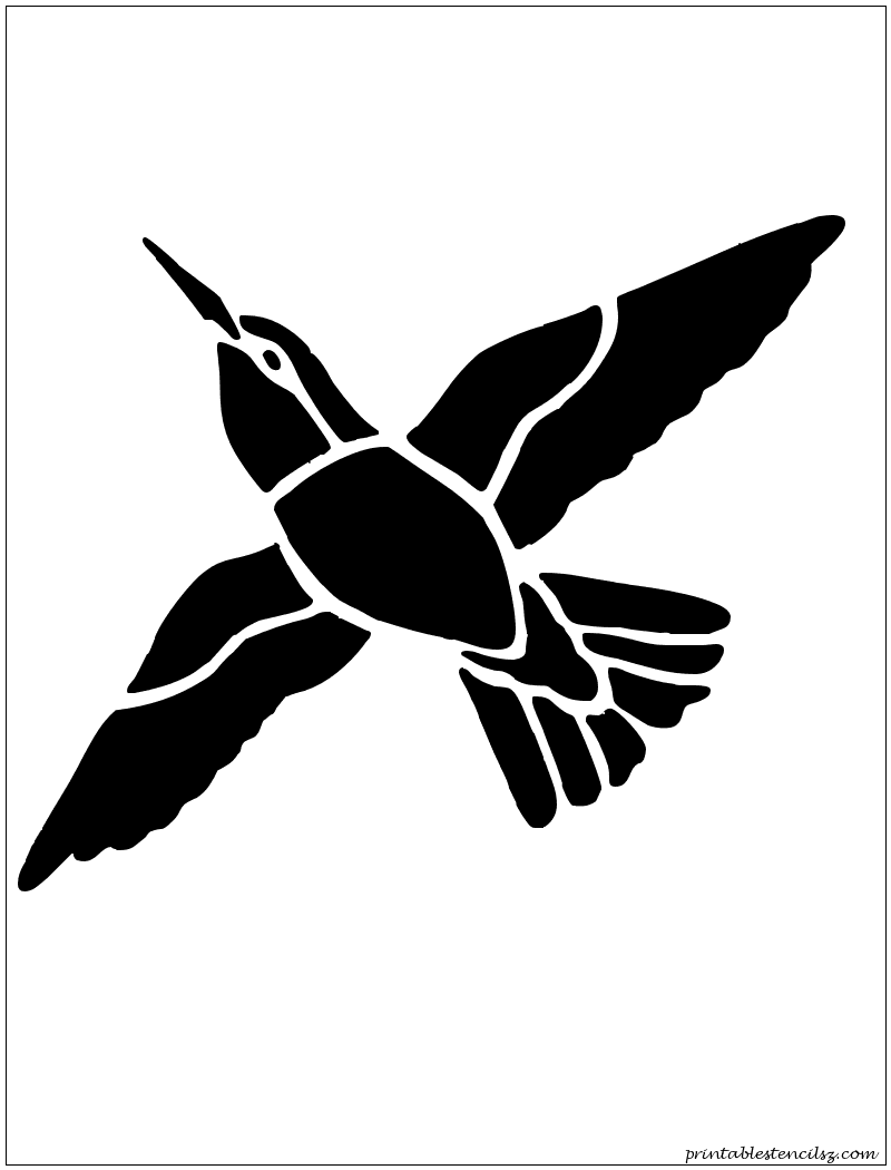 Star shape stencil 100 stencil patterns pinterest primitive could enlarge and use for a stepping stone printable hummingbird humming bird wall stencil pattern design amipublicfo Images