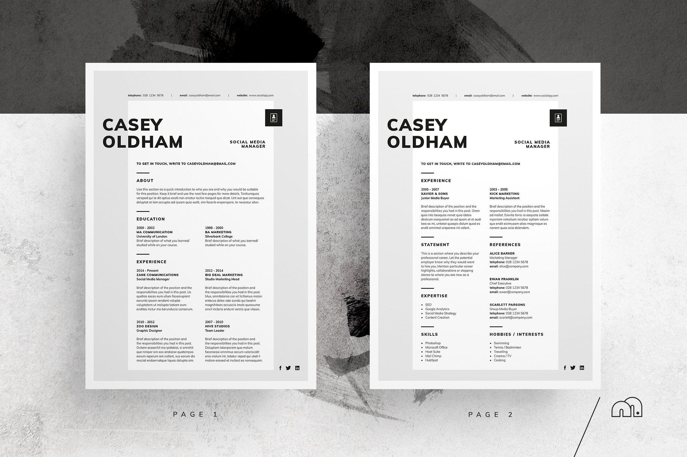 ResumeCV Casey by bilmaw creative on
