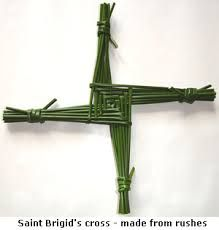 imbolc - This is the Brigid's cross, simple to make and a great seasonal gift.