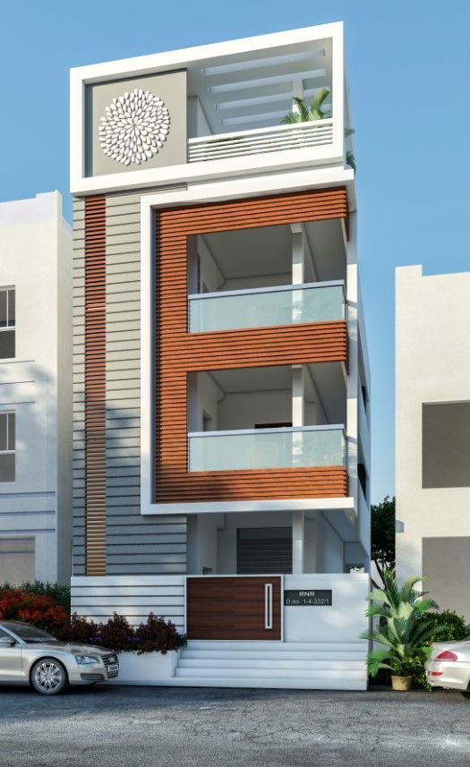 House Front Design House Design Front Elevation Designs: Village House Design, House Front Design, Narrow House Designs