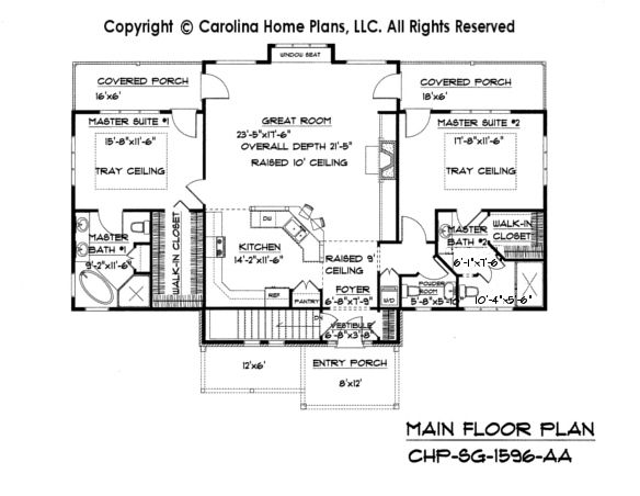 Love The Open Floor Plan With Kitchen Overlooking Living Room Change One Master Suite To 2 K Craftsman Bungalow House Plans Craftsman House Plans House Plans