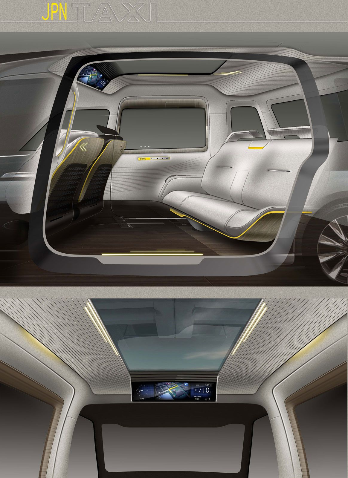 toyota jpn taxi concept interior design sketches car body design mobility pinterest. Black Bedroom Furniture Sets. Home Design Ideas