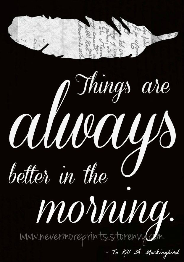 To Kill A Mockingbird Quotes Better In The Morning To Kill A
