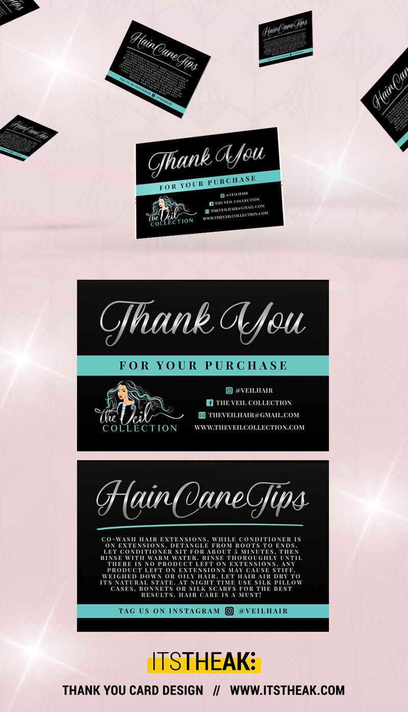 Thank You For Your Purchase Thank You Cards Hair Care Tips
