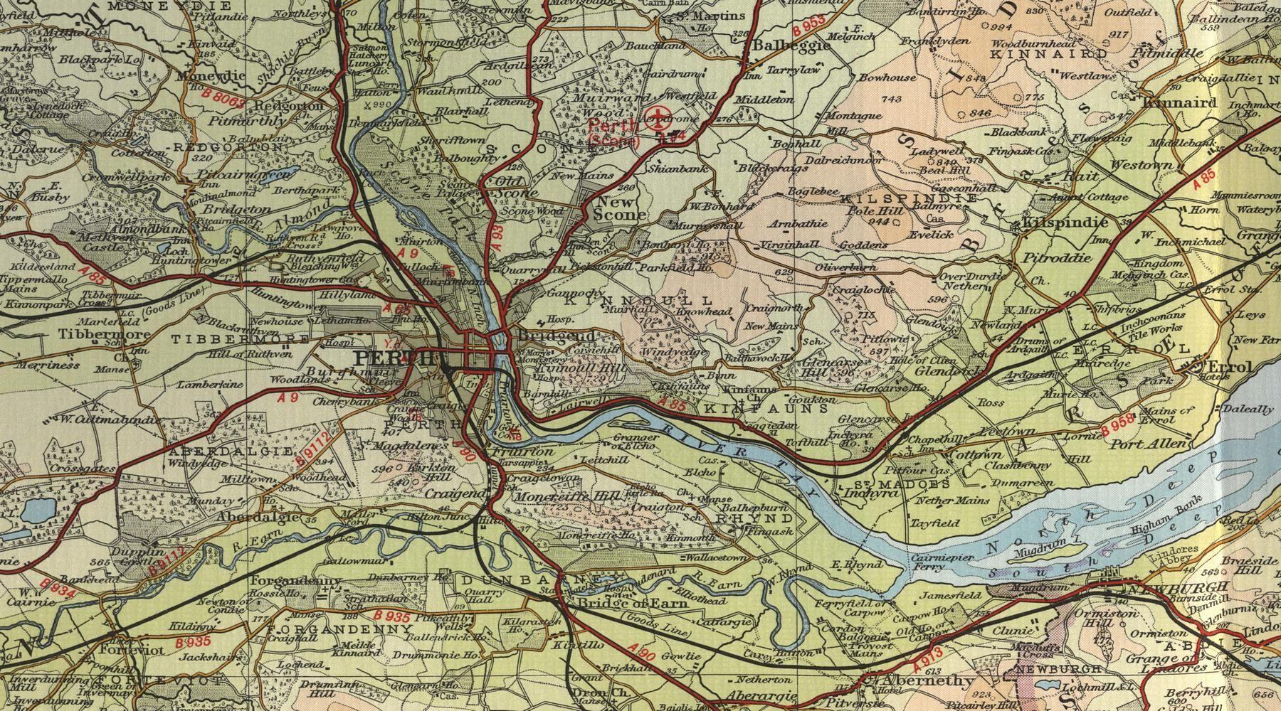 Alfa img - Showing > Perth Scotland Map