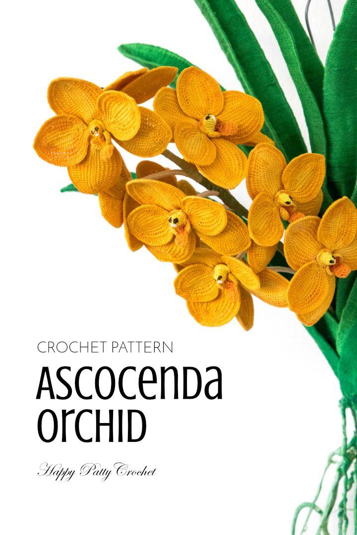Ascocenda Orchid | Flores de ganchillo, Flores en crochet y Flores