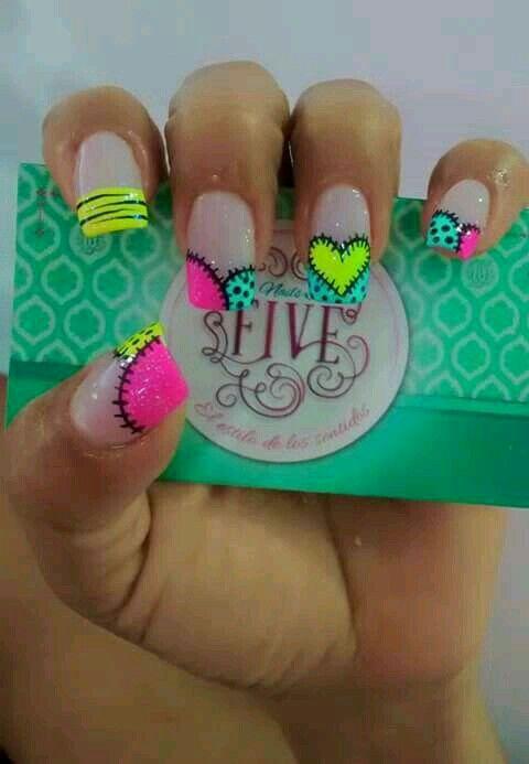 Pin de Mally Medina en Arte uñas | Pinterest | Arte uñas, Diseños de ...