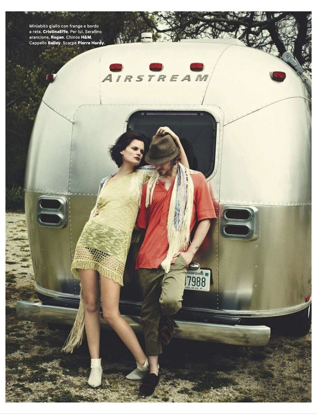 Peace Love Music By Chris Craymer For Amica June 2012 Airstream Editorial Fashion Women S Intimates
