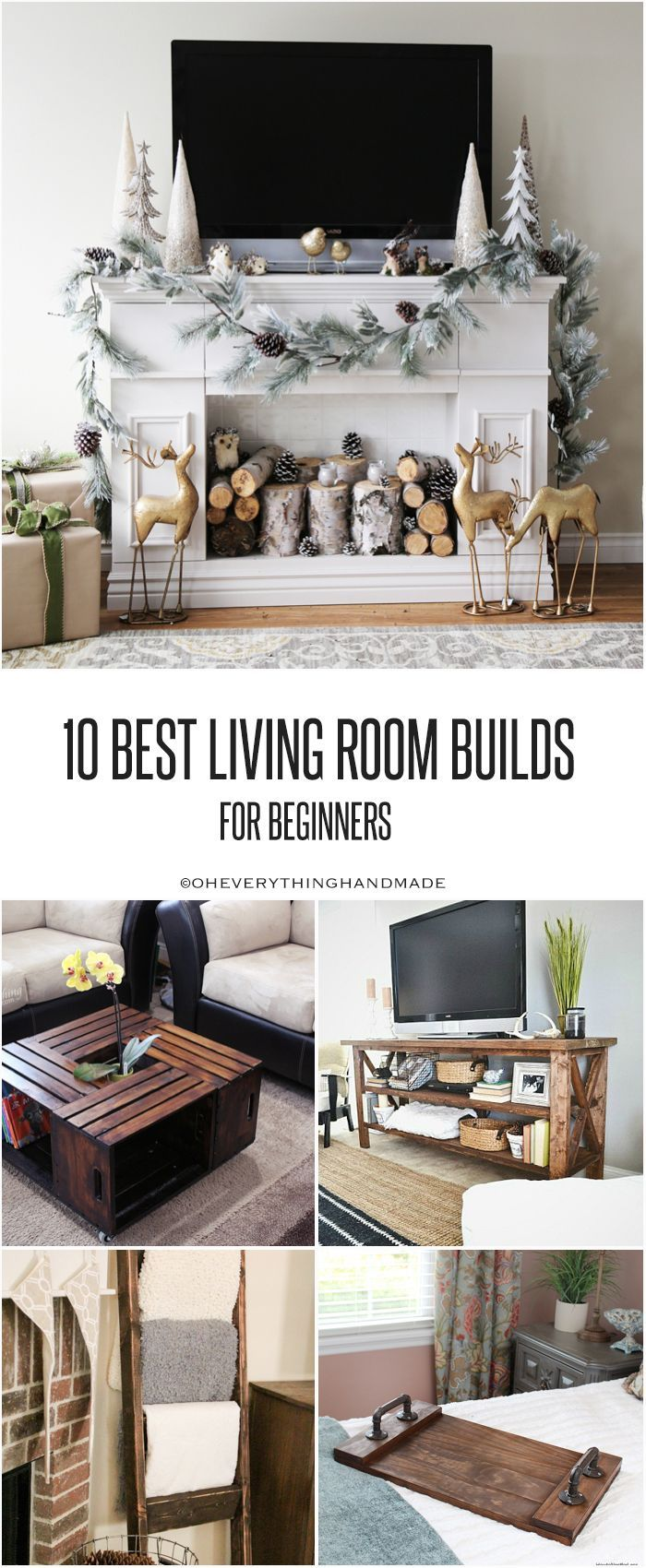 Hi you know i like me some simple building plans right so today ill be sharing 10 best living room builds for beginners these plans are easy to build
