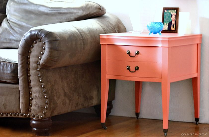 Shabby Chic Colors For 2015 : Diy: transform a vintage side table with color paint color of the