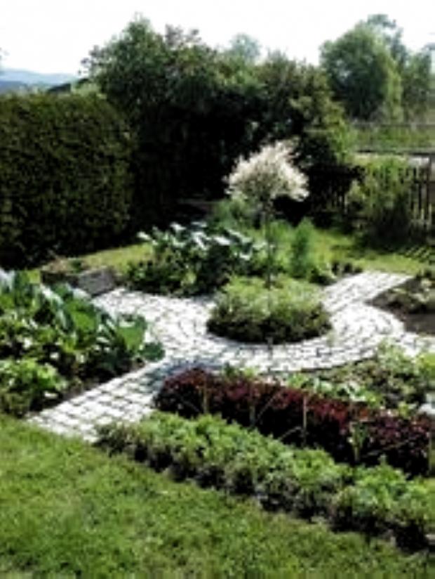 Essbarer Garten Mogliches Layout Fur Den Vorgarten Ware Eine Gute Raumnutzung Den Eine Essbar Garden Landscape Design Garden Layout Small Garden Design