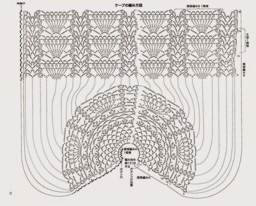 Loza: Poncho crochet | Blusas | Pinterest | Blusas