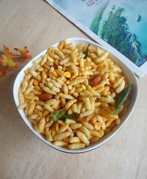 Murmura Chivda Puffed Rice Snack Indian Recipes Blogexplore Recipe Turmeric Recipes Indian Food Recipes Puffed Rice
