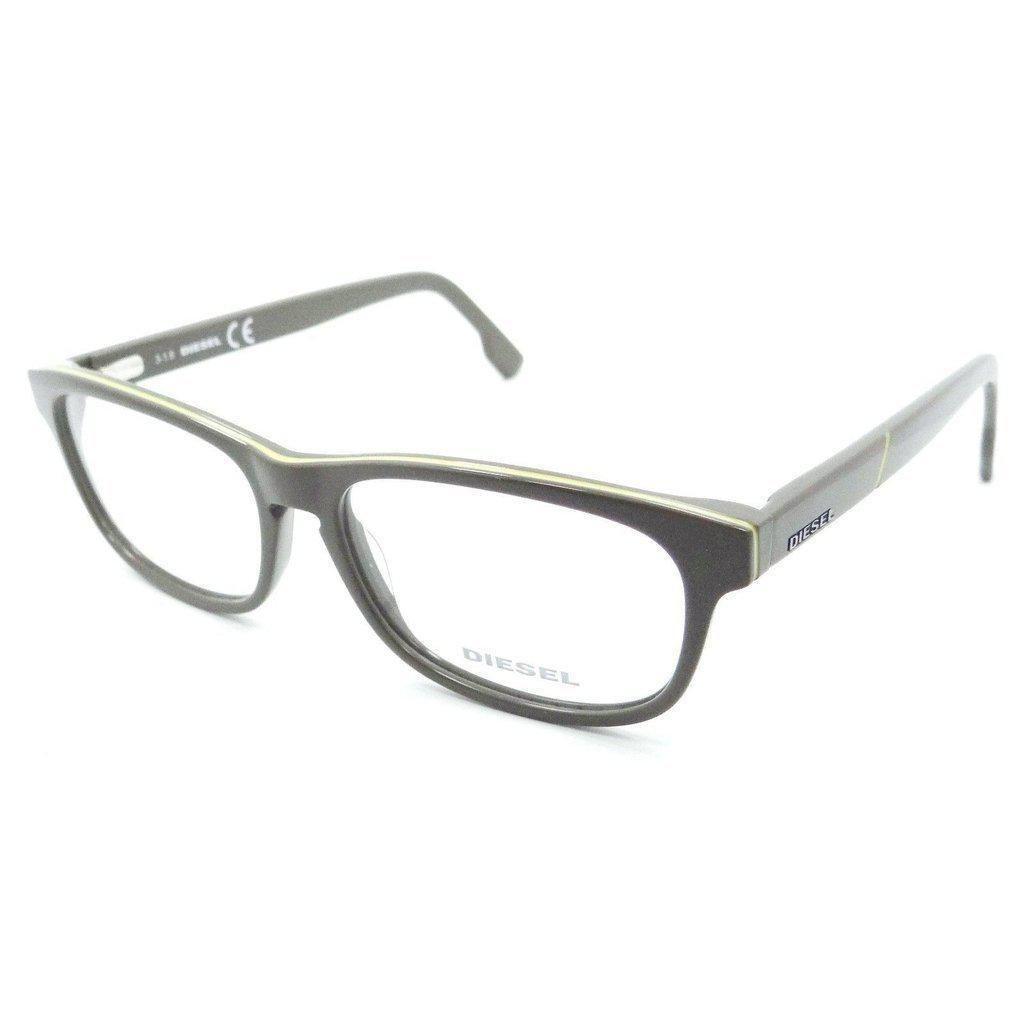 f5268e276c80 Diesel Rx Eyeglasses Frames DL5197 020 53-15-145 Mud   Yellow Stripe ...
