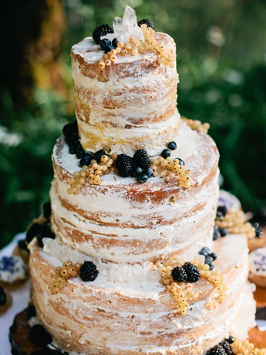Winter wedding cake idea with a crystal topper weddings