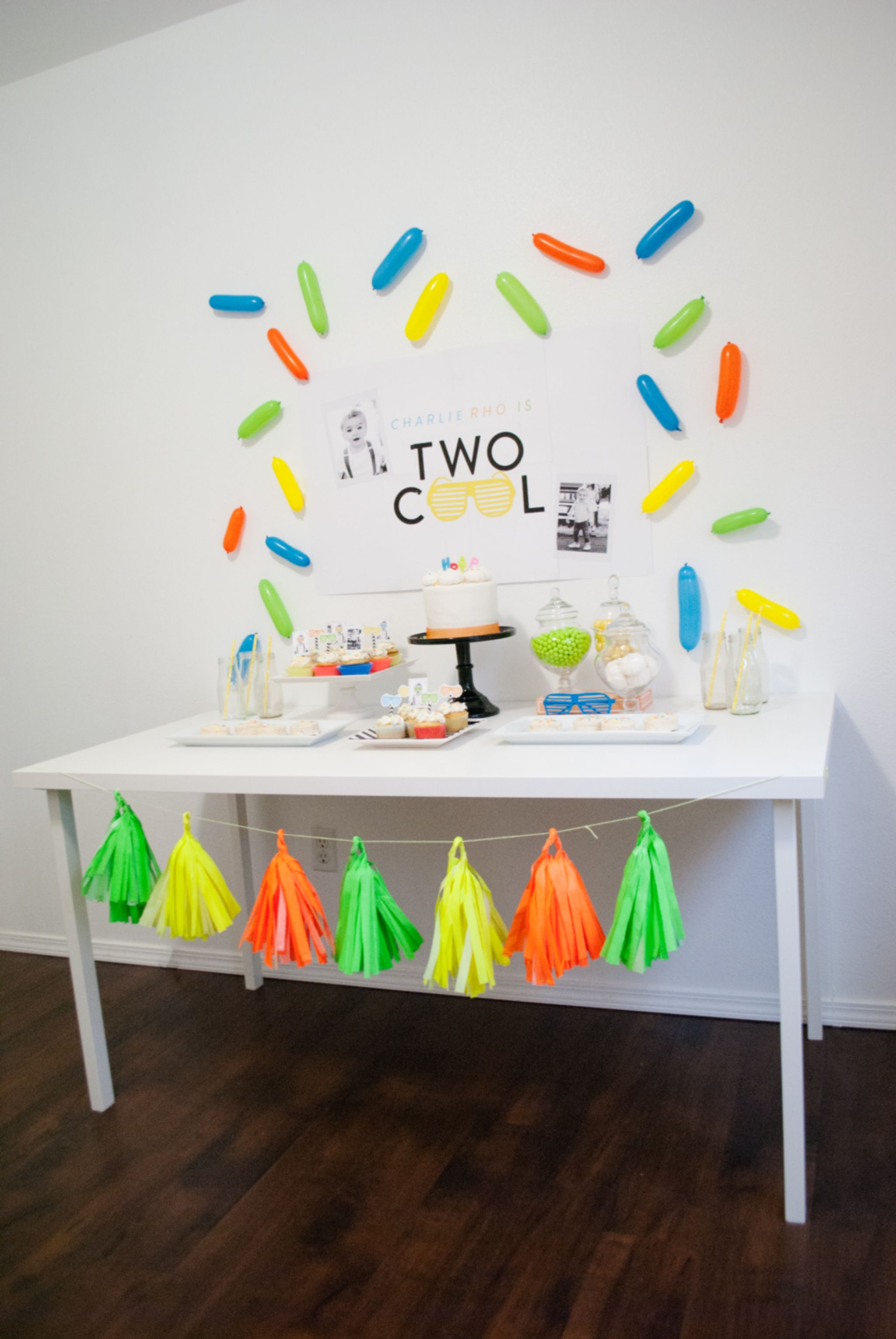 A Two Cool Birthday Party That Ll Have You Reaching For Your Sunglasses 2nd Birthday Party Themes