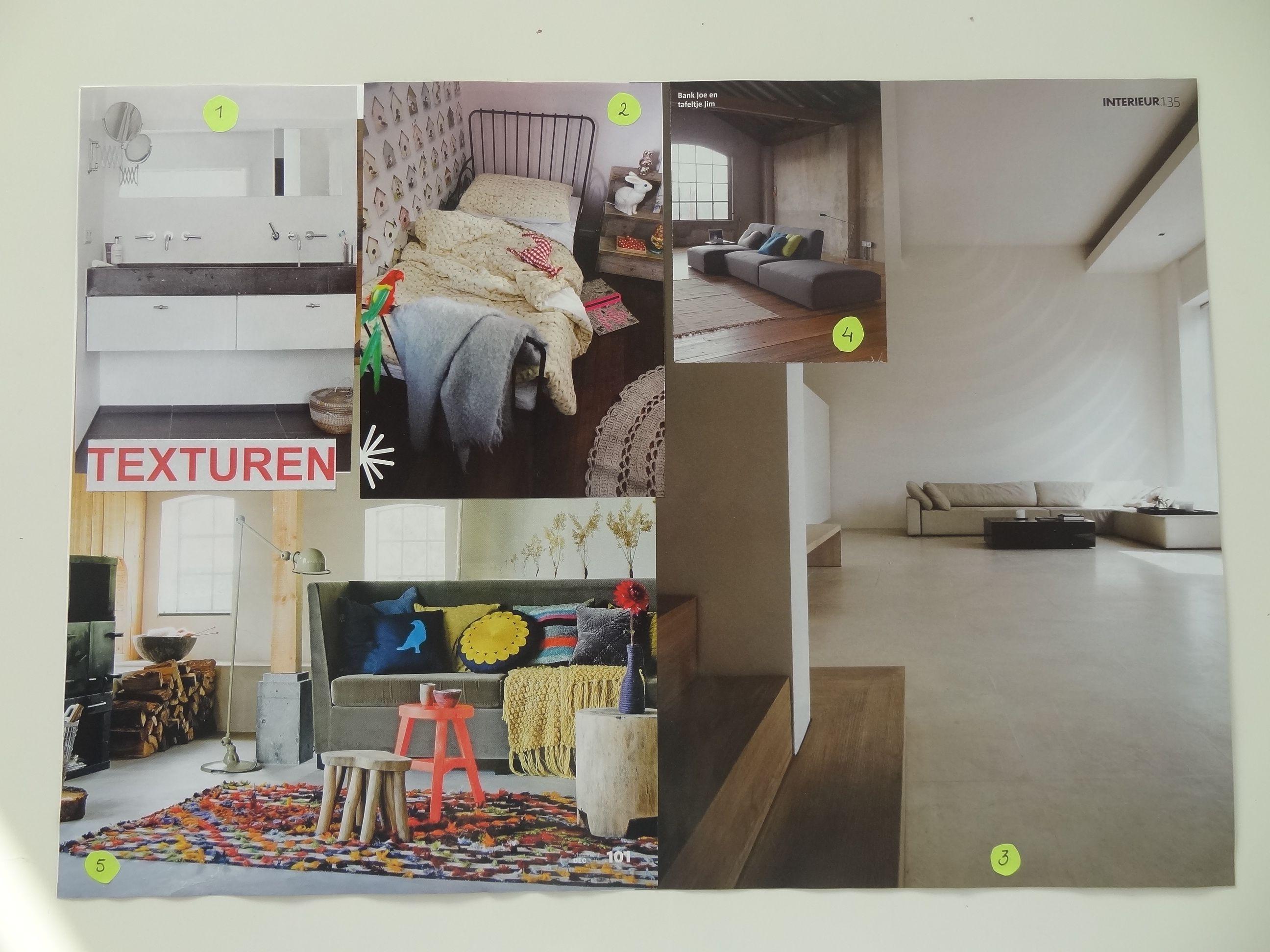 Interieur ontwerpbouwsteen Texturen (praktijkopdracht 3) | Opleiding ...