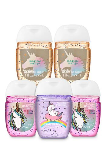 Sugar Coated Unicorns Pocketbac Hand Sanitizers 5 Pack Bath And