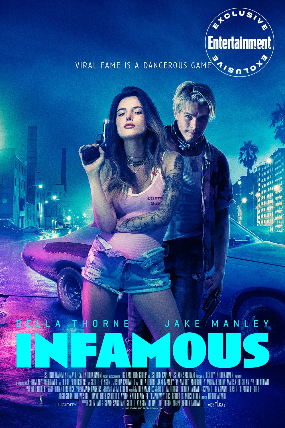 Bella Thorne And Jake Manley Are Gen Z S Bonnie And Clyde In Exclusive First Trailer For Infamous Bella Thorne Infamous 2020 Movies