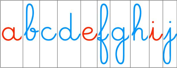 Gut gemocht Les lettres mobiles cursive | Lettres cursives, Lettres et École XX74