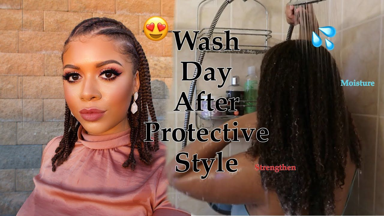 Wash Day After Two Week Protective Style Natural Hair Youtube Natural Hair Styles Natural Curls Hairstyles Curly Hair Styles Naturally