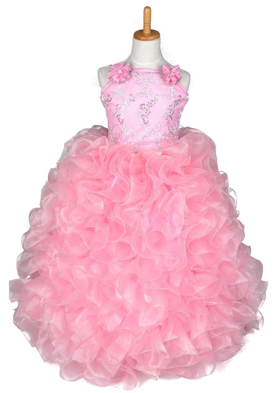 Flower Girl Deslumbrante Vestido Rosa #FGD016 | Para bebés, Popular ...