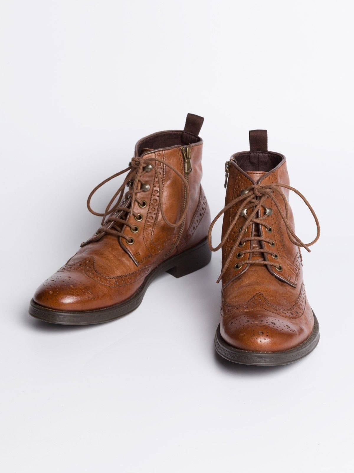 Geox Leather Brogue Boots A modern hybrid from the