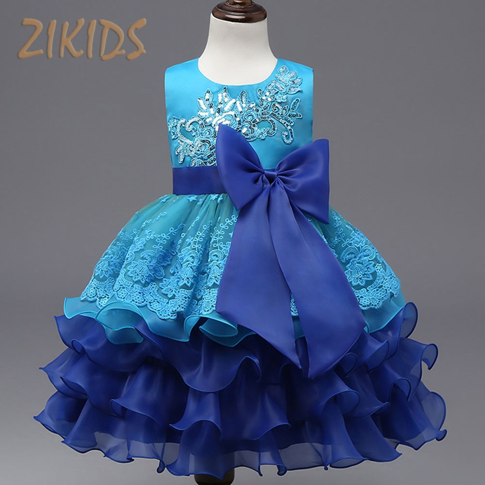 16.99$ Buy now - Baby Girl Dress Ball Gown Lace Patchwork Sequined ...