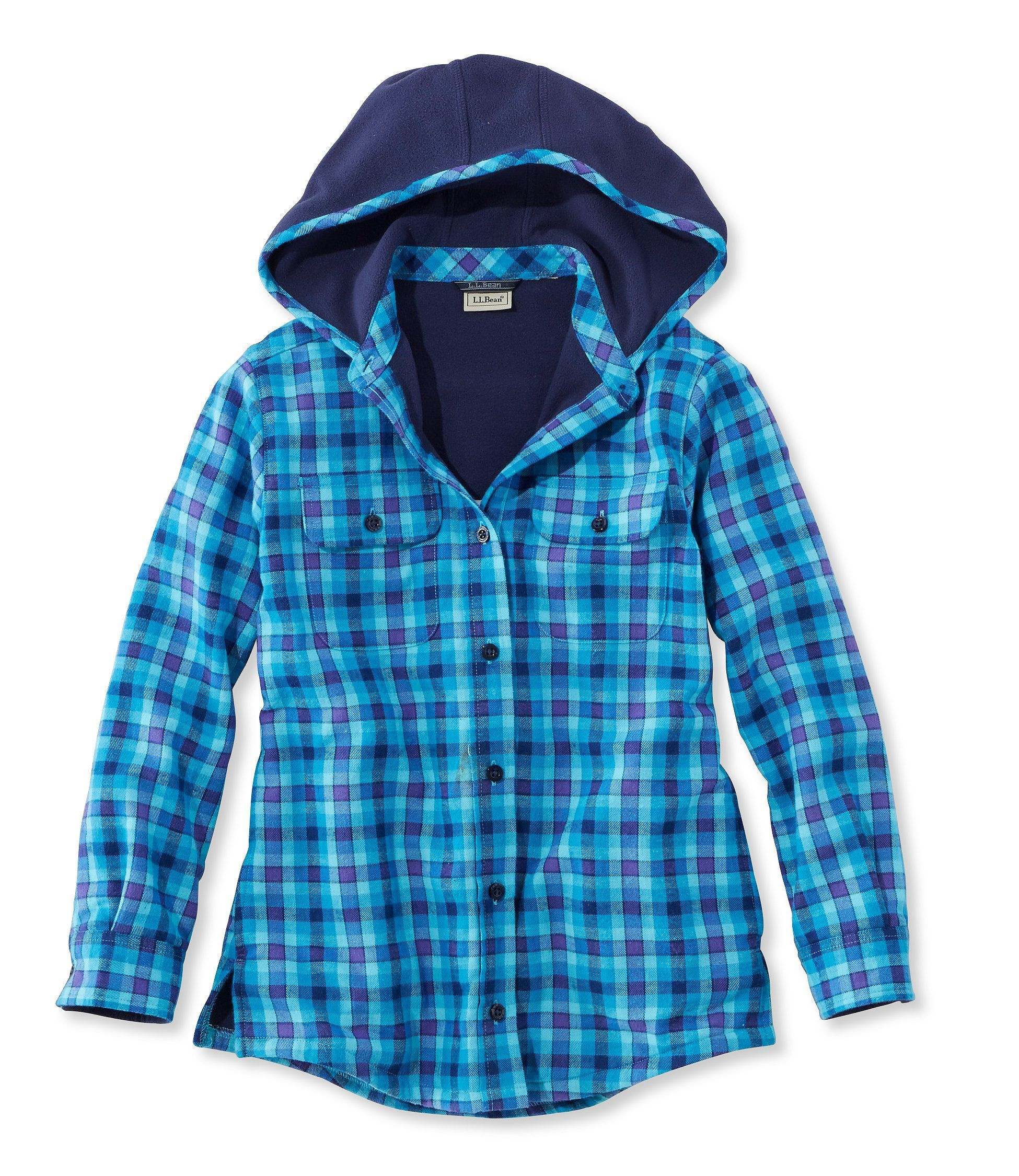 Flannel jackets with hood  Girlsu FleeceLined Flannel Shirt  Products  Pinterest  Flannel