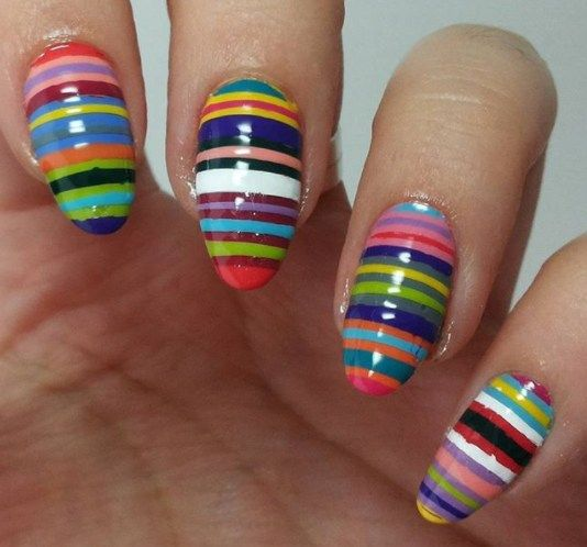 100 Stripes And Tape Nail Art Designs 2018 Nail Art Pinterest
