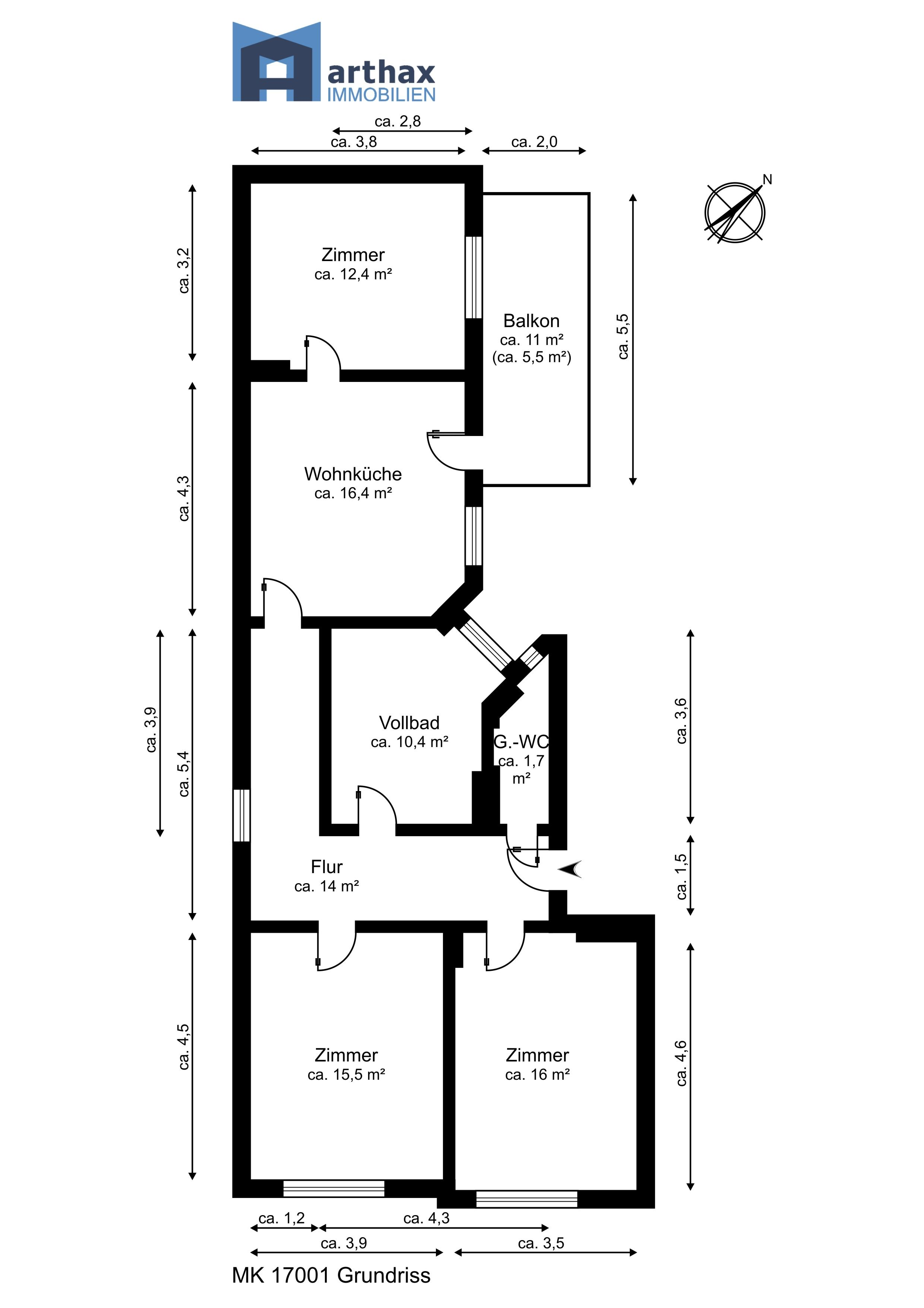 Unique Grundriss mit Ma ketten und Raumbezeichnungen