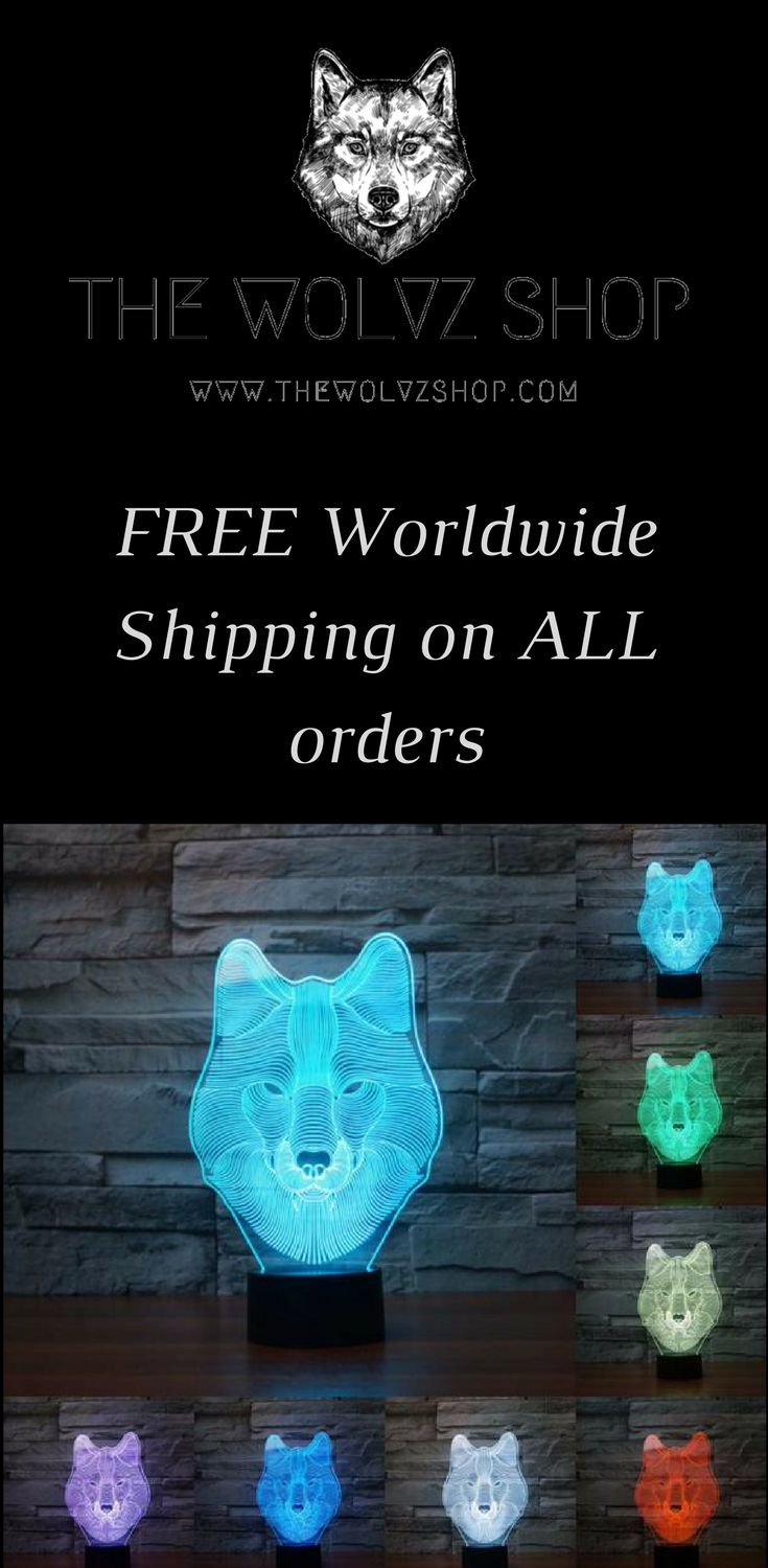 This 3d 7 Color Wolf Lamp Is The Perfect Answer To The Traditional Night Light It Is Powered By Aa Batteries And Is 7 Lights In Night Light Shopping Lights