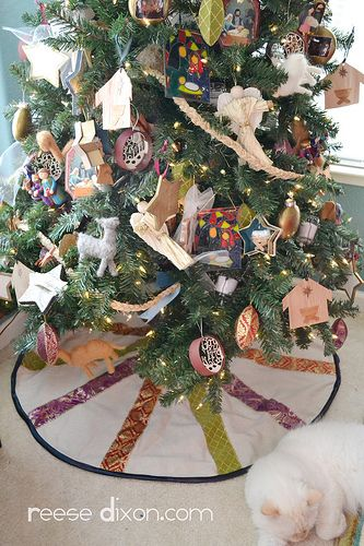 Nativity Themed Tree Skirt NATIVITY THEMED Trees Pinterest