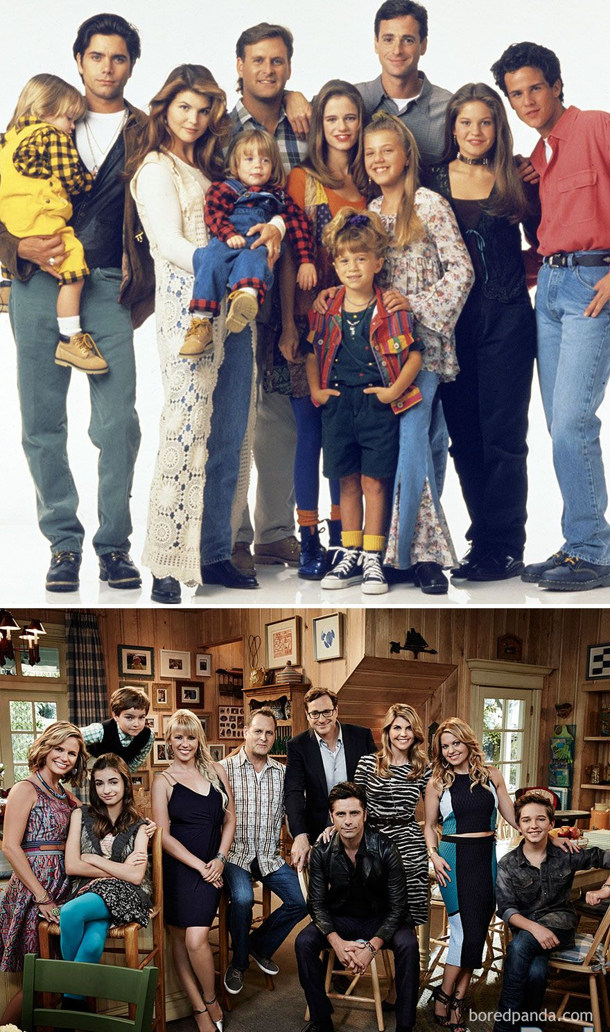 Full House 1990 Vs 2016 In 2020 Full House Full House Cast Fuller House