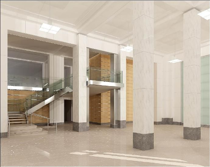 South Lobby Of Gsa Central Office Building Washington Dc Public