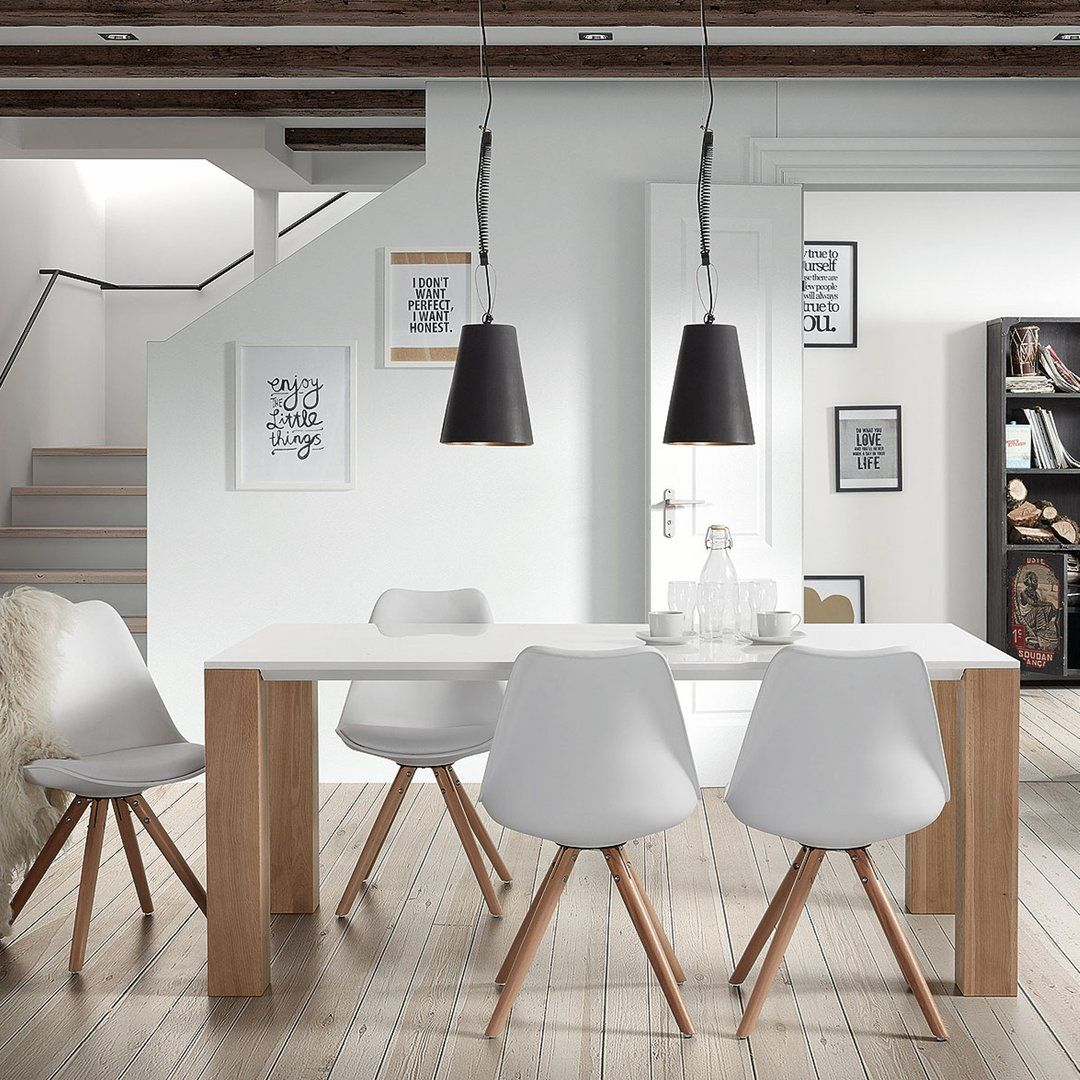 Mesa de comedor moderna zuni vintage estiloescandinavo for Decoracion de mesas de comedor