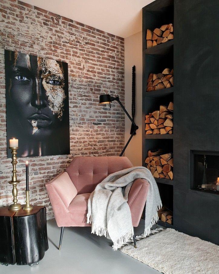 Photo of wallart, bakstenen muur