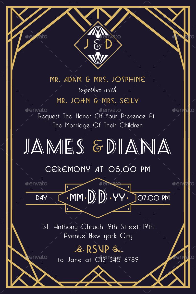 Image result for art deco wedding invitations Wedding Pinterest