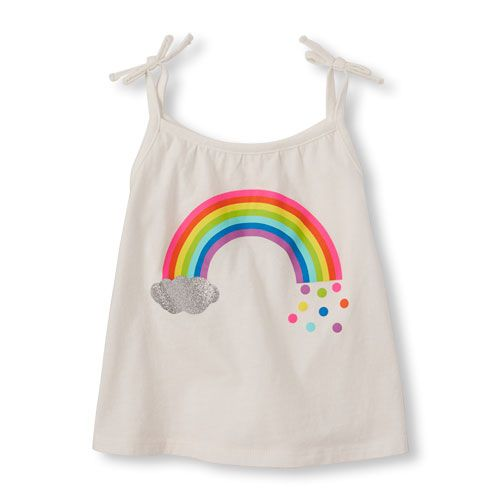 a4c2152a50c94 Baby Girls Toddler Sleeveless Tie-Strap Tank Top - White - The Children s  Place