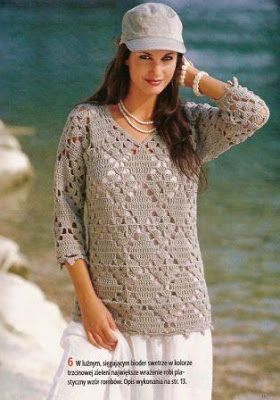 Croche Graficos E Receitas Blusas De Inverno Croche Com