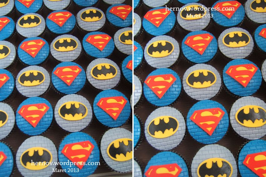Batman vs Superman Cupcakes Superhero party Pinterest Superman