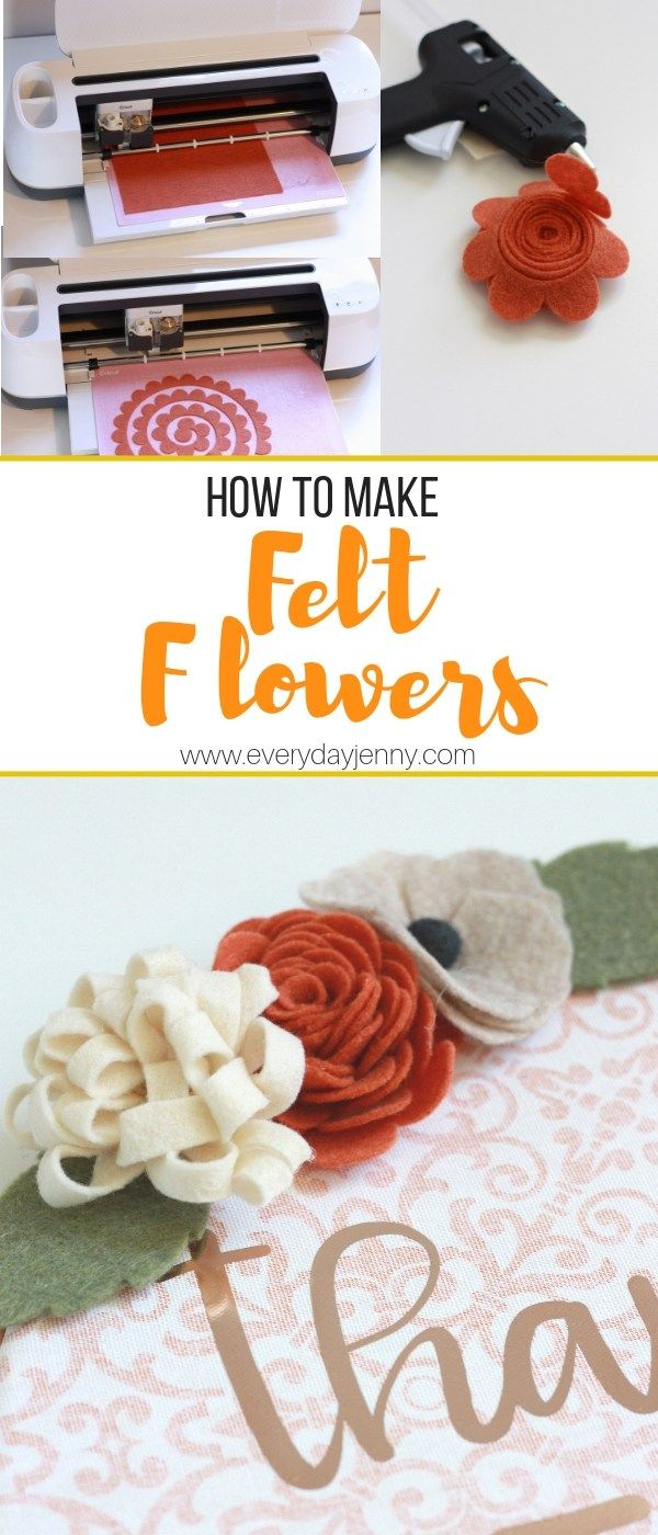 Cricut Tutorial: How to make felt flowers with your Cricut Maker. Tips and tricks to making your flowers. #Cricut #CricutMade #diy #doityourself #crafter #diyideas #craft #crafting