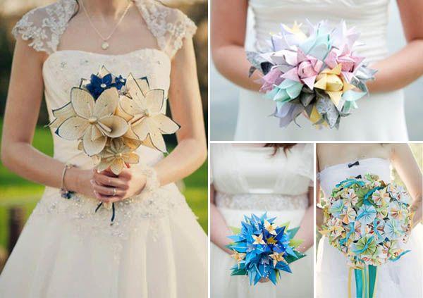 Bouquet Sposa Origami.Matrimonio A Tema Origami Bouquet Da Sposa Alternativi